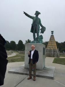 Le 14 juillet dedication at Newport Rochambeau statue