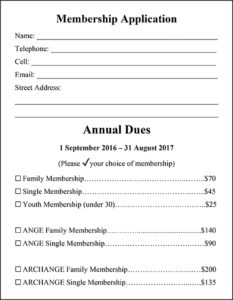 Alliance Française of Newport membership application form